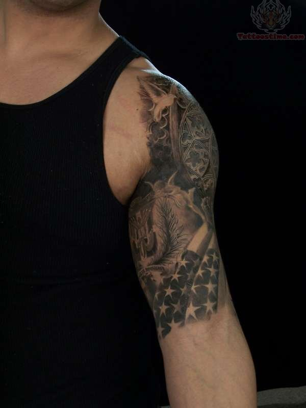Half Sleeve Tattoo Flames Half Sleeve Tattoo For Boys