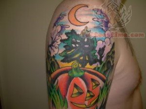 Halloween Shoulder Tattoo