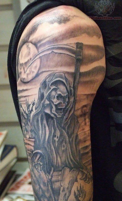 Horror Tattoo On Sleeve For Men