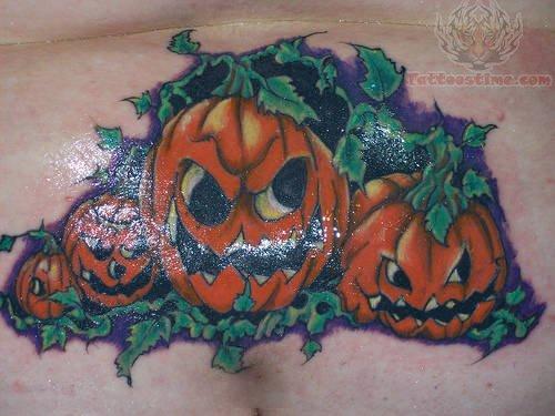 Pumpkin patch tattoo for Tattoos of pumpkins