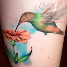 Hummingbird Tattoo On Foot Flowers And Hummingbird Tattoo