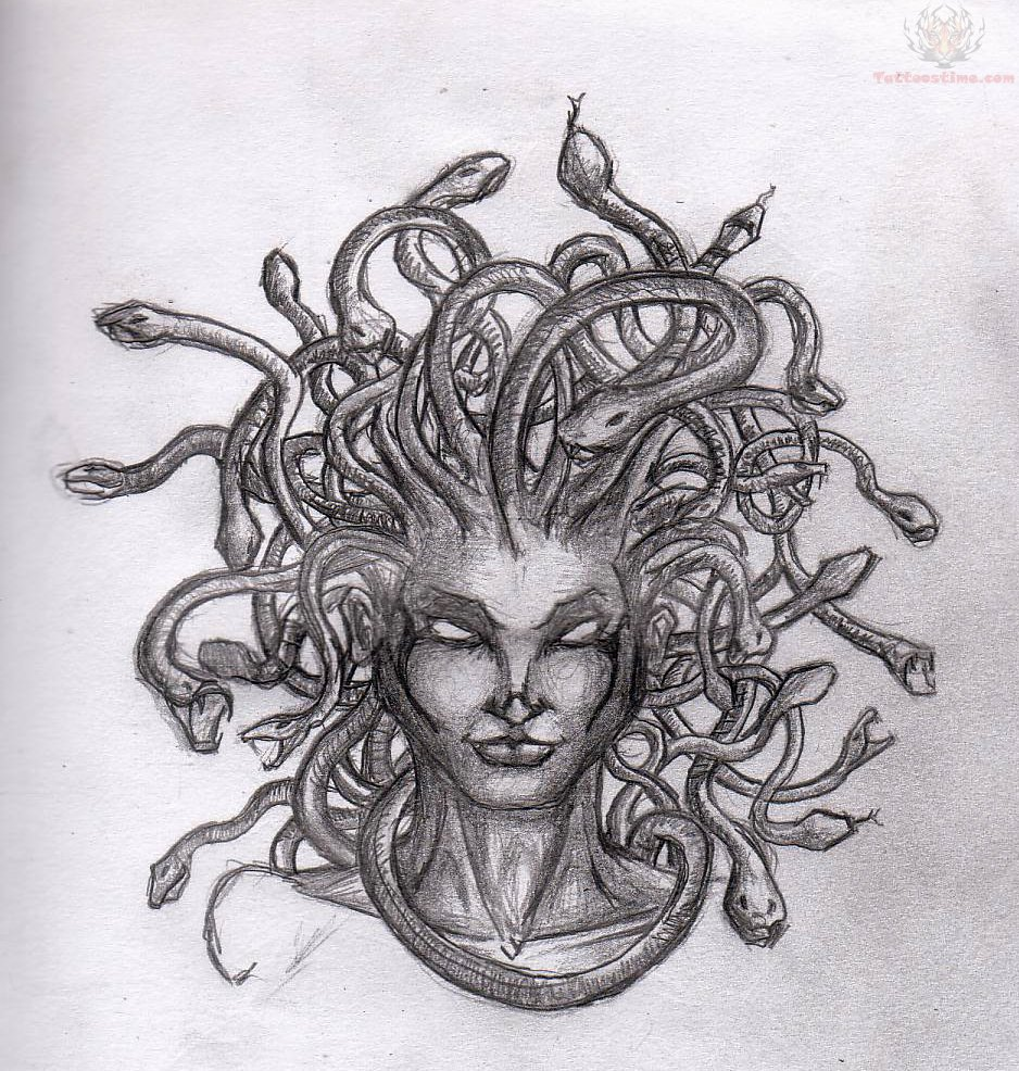 Medusa tattoo design sample for Sample of tattoo design