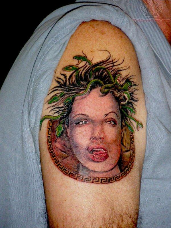 Medusa Tattoo For Bicep