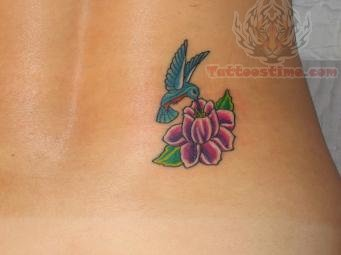 small hummingbird and flower tattoo. Black Bedroom Furniture Sets. Home Design Ideas