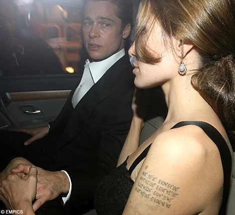 Angelina Jolie Couple Tattoo