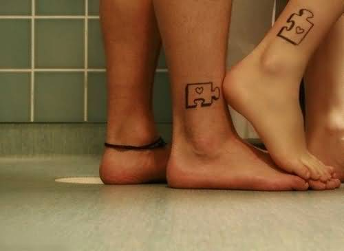 Ankle Couple Tattoos