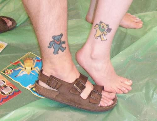 Teddy Bear Tattoo On Ankle