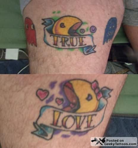 Tattoo  Love on Url Http   Www Tattoostime Com True Love Pack Man Couple Tattoo