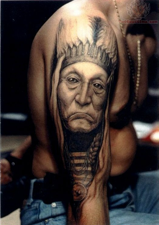 Native American Indian Tattoo Designs for Men