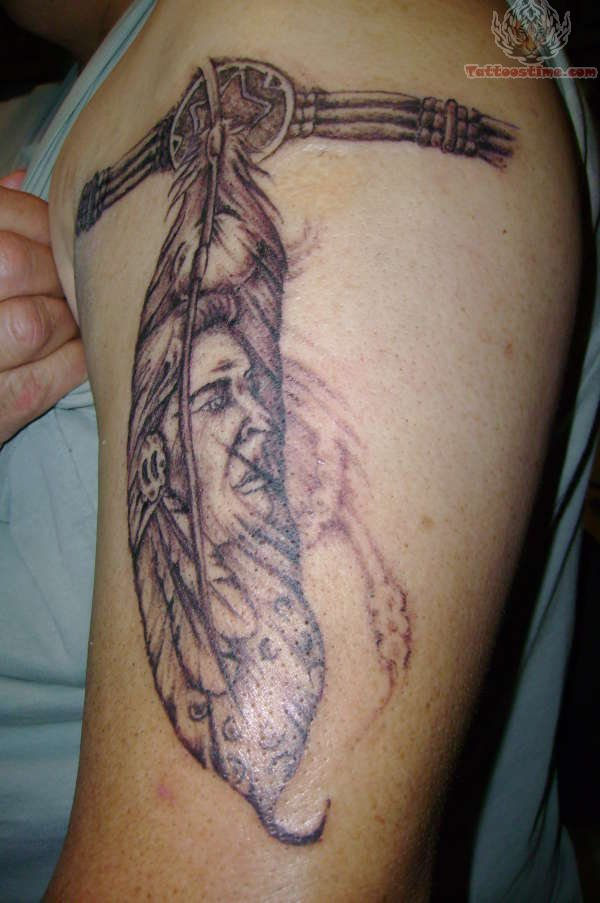 Indian Feather Armband Tattoo