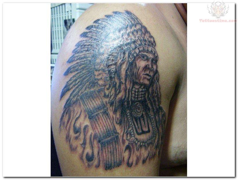 Native American Bear Tattoo Indian Tattoo Design By