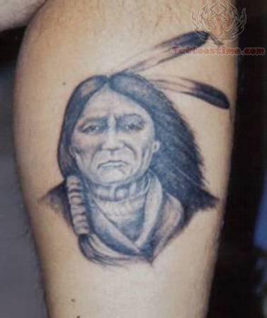 native indian tattoo for leg. Black Bedroom Furniture Sets. Home Design Ideas
