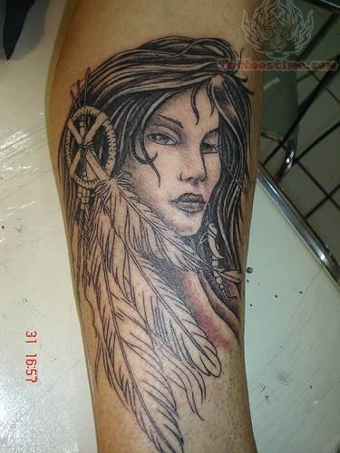 Native American Cherokee Indian Tattoo