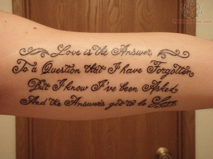 lettering tattoo for arm. Black Bedroom Furniture Sets. Home Design Ideas