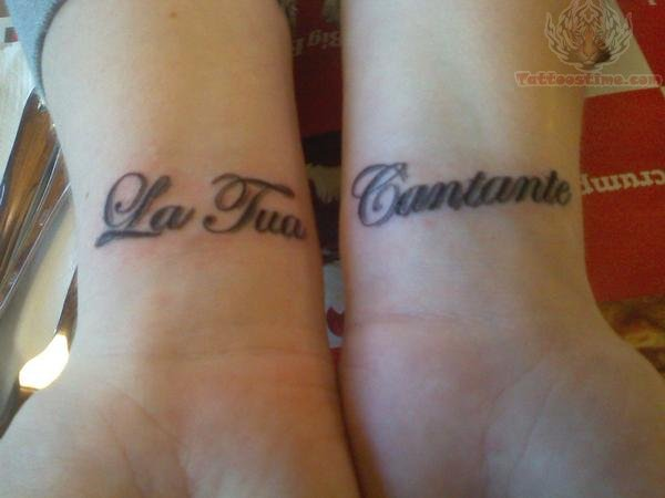 Wrist Letering Tattoo Designs