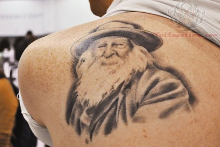 Back shoulder literary tattoo for men and women for Back shoulder tattoo men