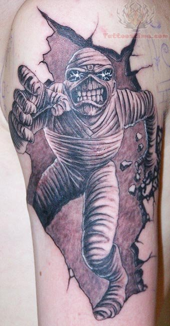 Running Mummy Tattoo