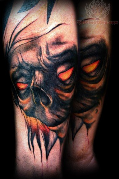 demon face tattoo - photo #23