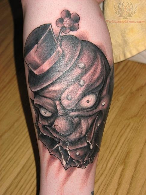 Scary tattoo images designs for Clown tattoos for men