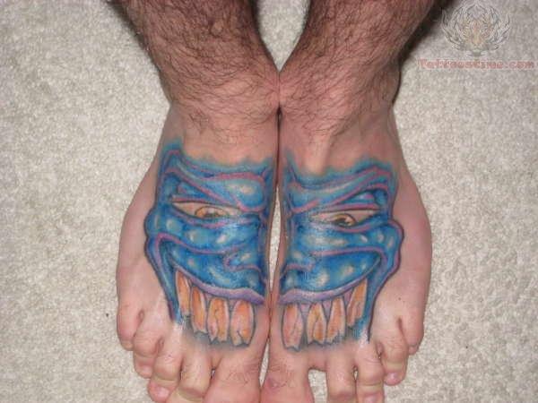 scary feet tattoo