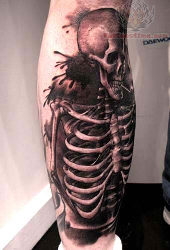 Grim Reaper Skeleton Tattoo