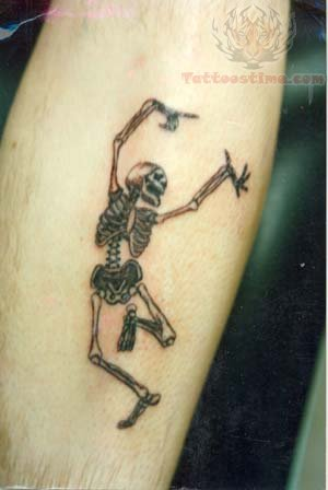 Dancing Skeleton Tattoo