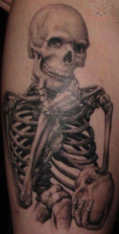 Skeleton Tattoos : Page 7 African Lion Footprints