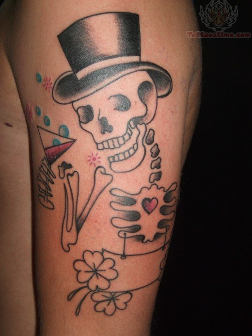 Traditional Skeleton Hand Tattoo Images & Pictures - Becuo