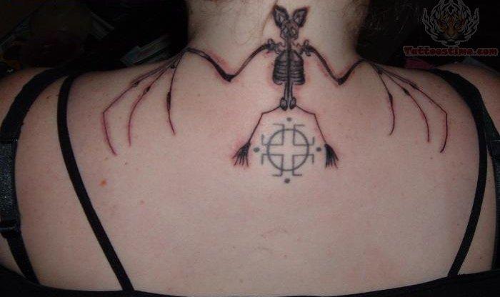 Skeleton Tattoo On Upp...