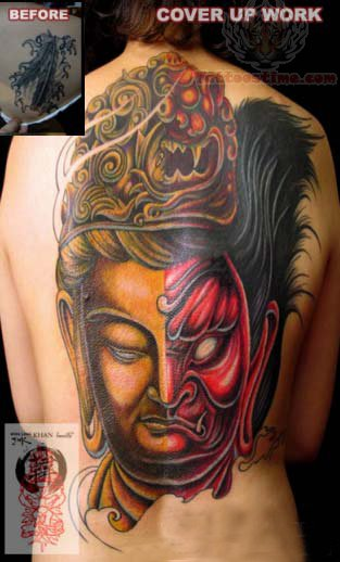 Japanese Buddha Head Tattoo