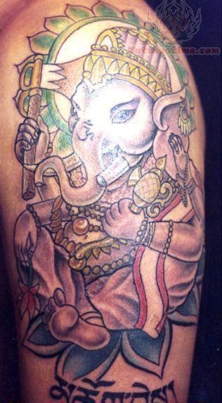 Spiritual Lord Ganesha Tattoo
