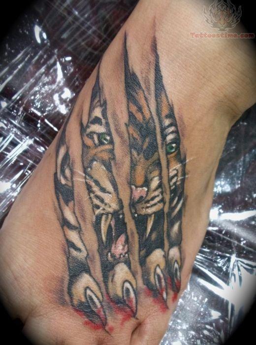 Torn Ripped Skin Tattoo