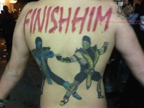 Best Video Game Tattoo On Back