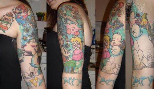 Half Sleeve Game Tattoos