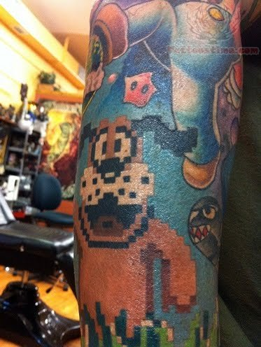 video games tattoos page 7. Black Bedroom Furniture Sets. Home Design Ideas