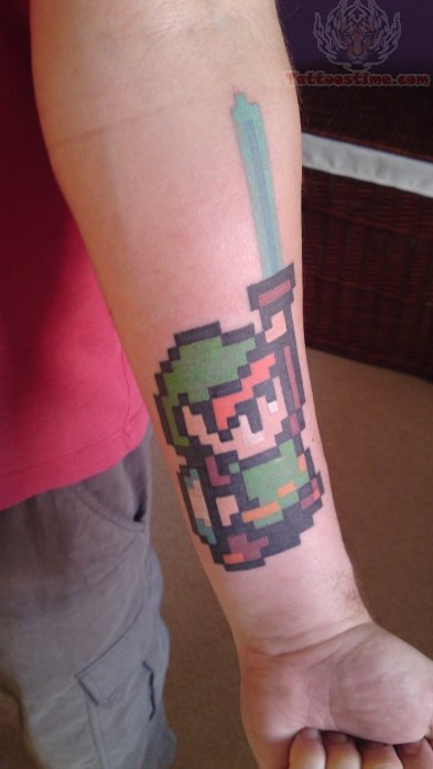Video Game Tattoo On Arm