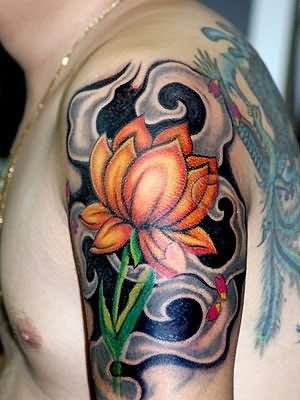 Vibrant Flower Tattoo