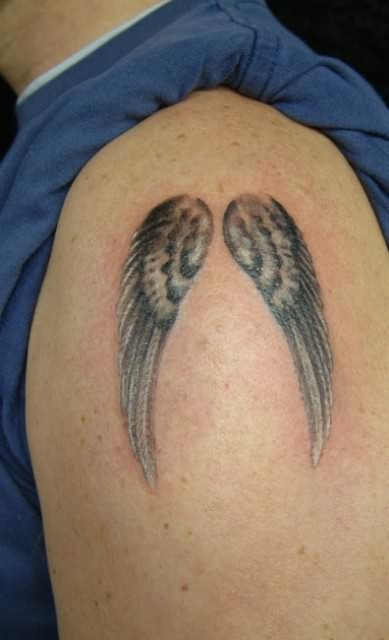 Wings Eternal Tattoo On Shoulder