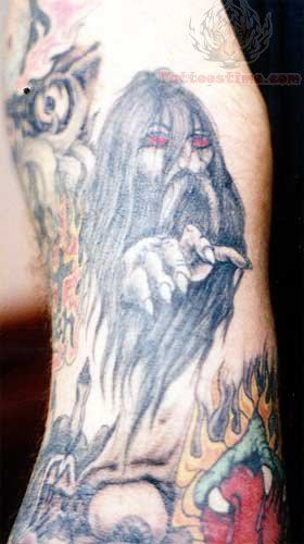 Red Eye Wizard Tattoo