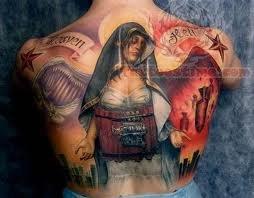 Full Back Wildlife Tattoo