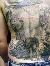 Wildlife Tattoo Images & Designs African Lion Footprints
