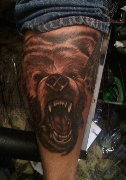Traditional grizzly bear tattoo - photo#8