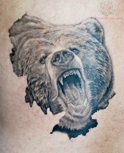 Traditional grizzly bear tattoo - photo#14