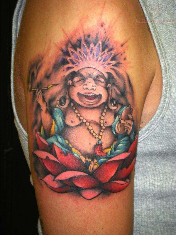 Happy Buddha Western Tattoo