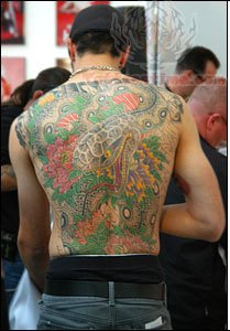 Western Full Back Color Tattoo