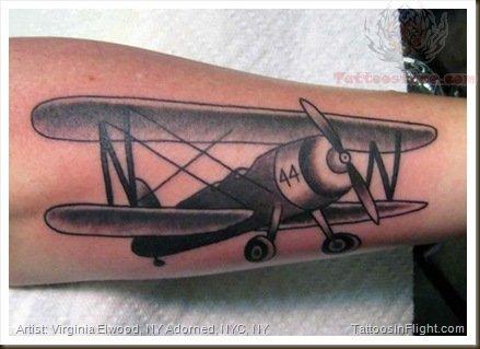 Western Plane Tattoo