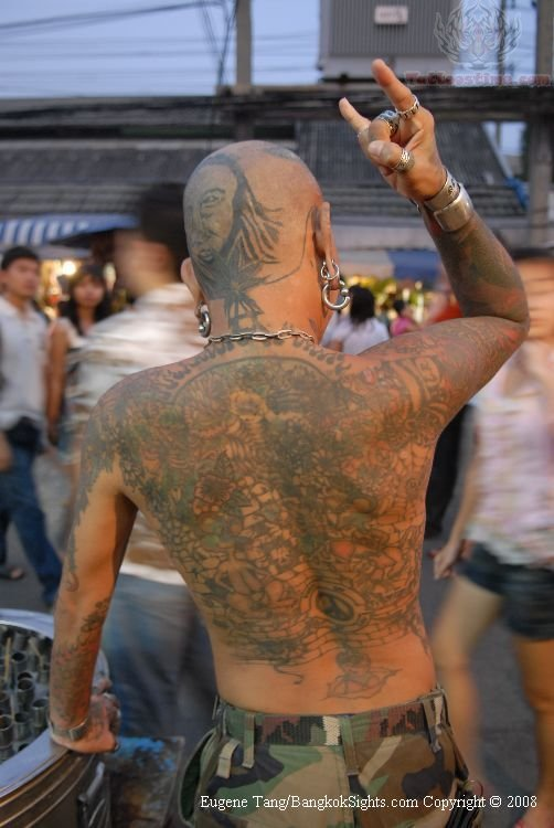 Western Tattoo On Back Body
