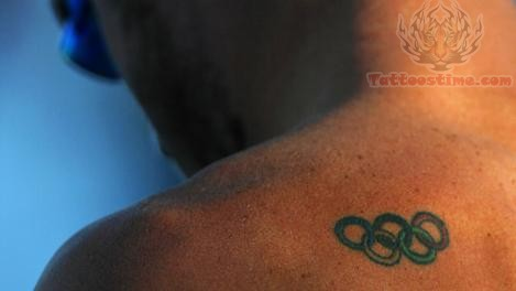 Small Olympic Rings Tattoo