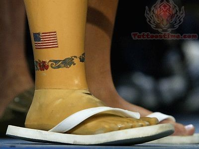Us Flag - Olympic Tattoo