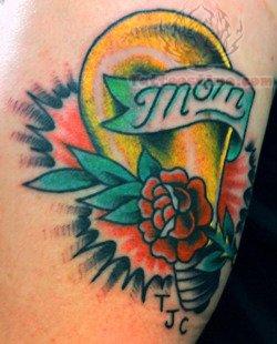 Memorial Rose And Bulb Tattoo